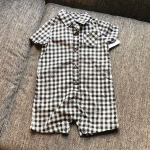 Carters Buffalo Plaid Romper 18 months